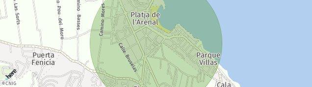 Mapa Arenal