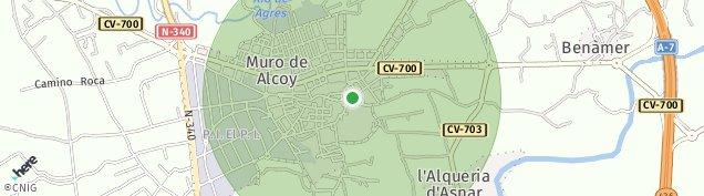 Mapa Muro de Alcoy