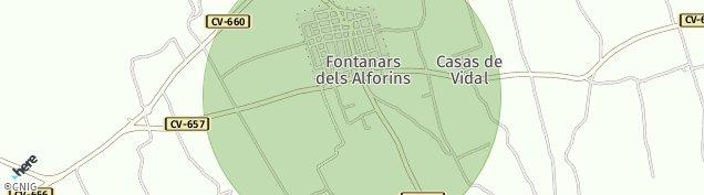 Mapa Fontanars dels Alforins