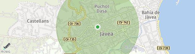 Mapa Jávea