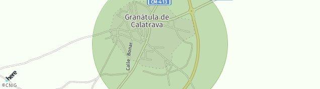 Mapa Granátula de Calatrava