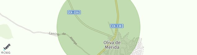 Mapa Oliva de Mérida