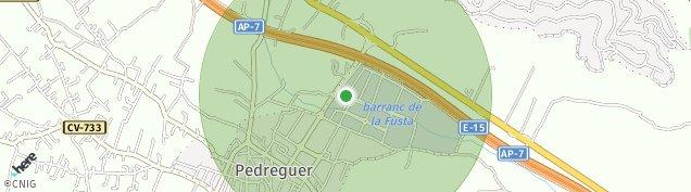 Mapa Pedreguer