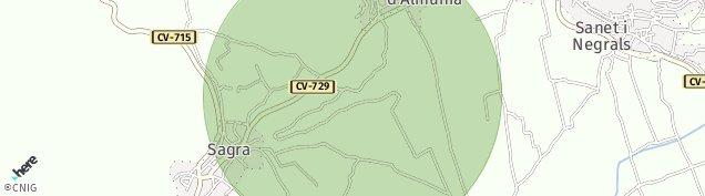 Mapa El Rafol d'Almunia
