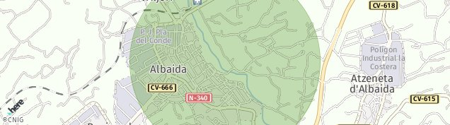 Mapa Albaida