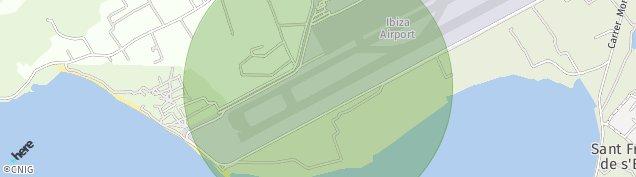 Mapa Aeroport d'Eivissa