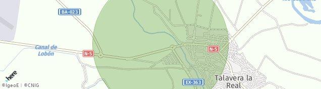 Mapa Talavera la Real