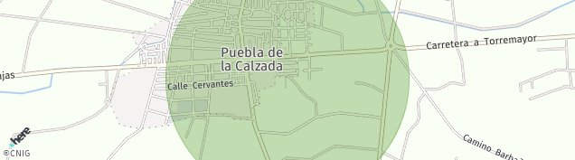 Mapa Puebla de la Calzada