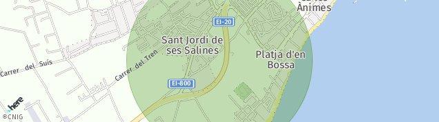 Mapa Sant Jordi de Ses Salines