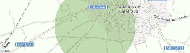 Mapa Bolaños de Calatrava