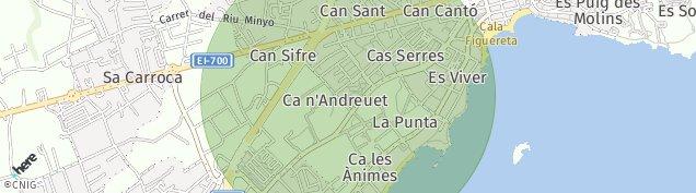 Mapa Eivissa-San Juan