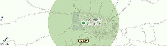 Mapa La Pobla del Duc