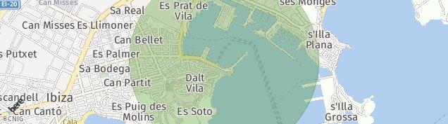 Mapa Eivissa
