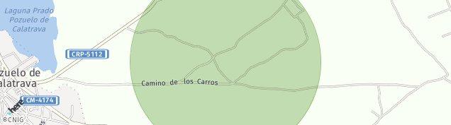 Mapa Pozuelo de Calatrava