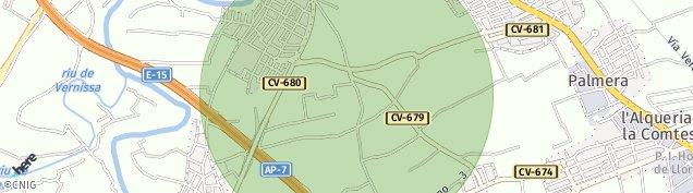 Mapa Almoines