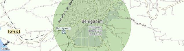Mapa Benigánim