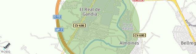 Mapa Real de Gandía