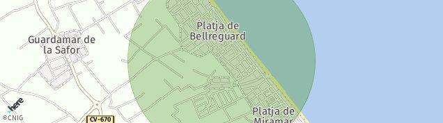 Mapa Playa de Miramar