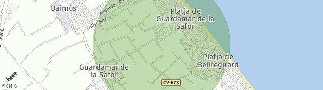 Mapa Guardamar de la Safor