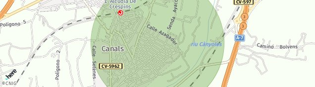 Mapa Canals
