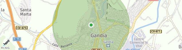 Mapa Gandía