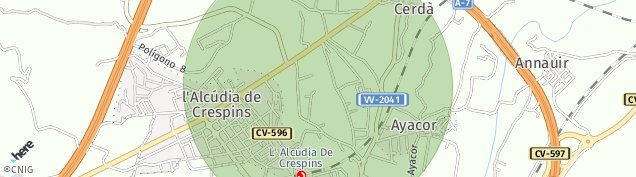 Mapa L'Alcúdia de Crespins