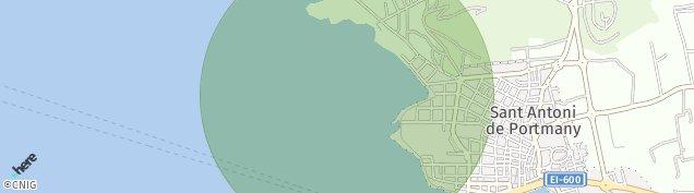 Mapa Sant Antoni de Portmany