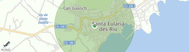 Mapa Santa Eularia Des Riu