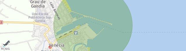 Mapa Puerto de Gandia