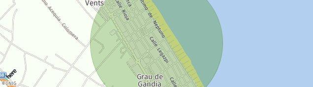 Mapa Playa de Gandia