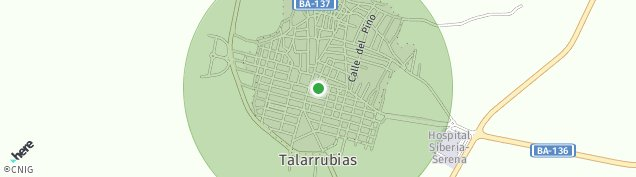 Mapa Talarrubias