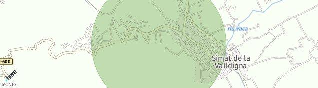 Mapa Simat de la Valldigna