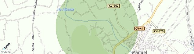 Mapa Senyera