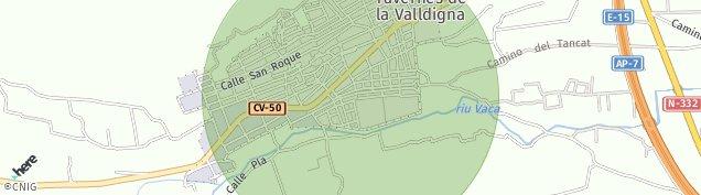 Mapa Tavernes de la Valldigna