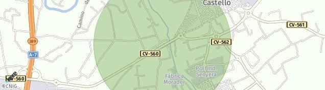 Mapa Villanueva de Castellón