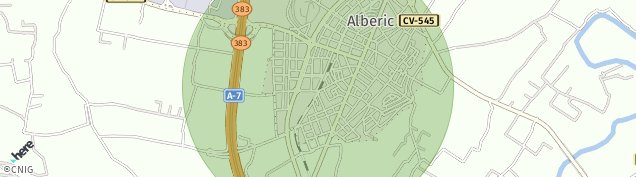 Mapa Alberic