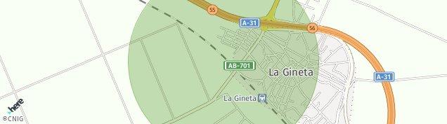 Mapa La Gineta