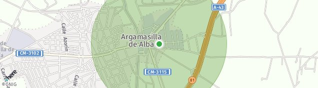 Mapa Argamasilla de Alba