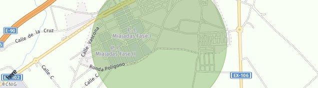 Mapa Miajadas