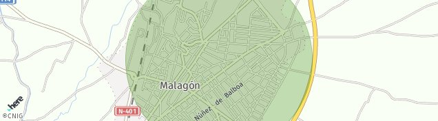 Mapa Malagón