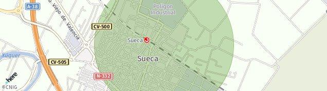 Mapa Sueca
