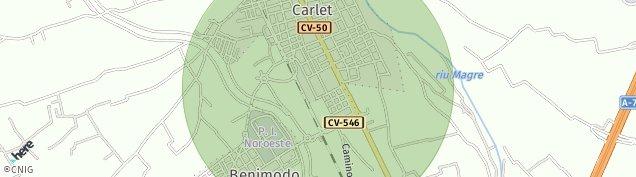Mapa Carlet