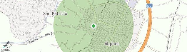Mapa Alginet