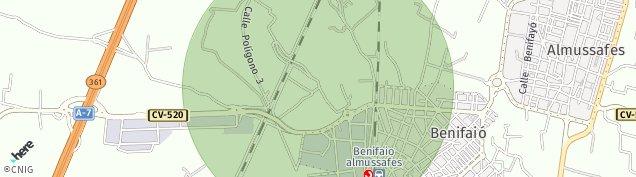 Mapa Benifaió