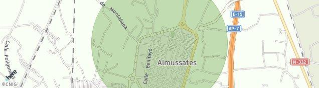 Mapa Almussafes