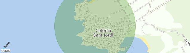 Mapa Colonia de Sant Jordi