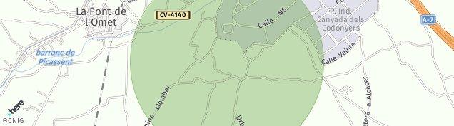 Mapa Picassent