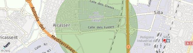 Mapa Alcasser