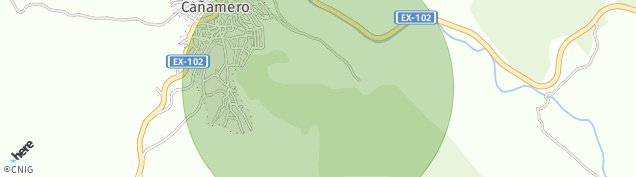 Mapa Cañamero