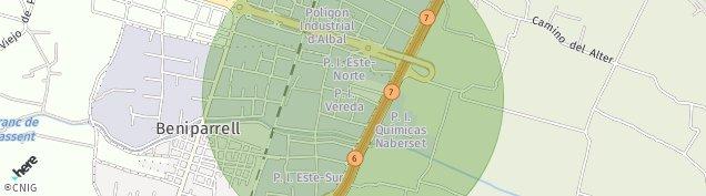 Mapa Beniparrell